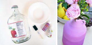 Ombré váza na kvety | DIY nápad a návod krok za krokom