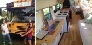 Premena starého autobusu na malý útulný domček