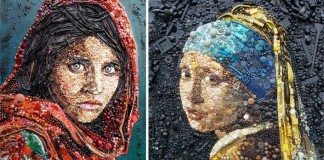 Slávne maľby pretvorené množstvom predmetov   Jane Perkins