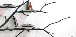 Originálna knižnica z vetvy padlého stromu |Sebastian Errazuriz