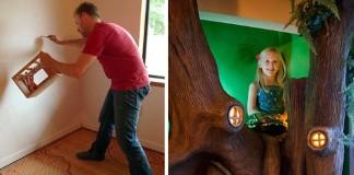 Rozprávková detská izba pre dcérku s čarovným stromom na hranie