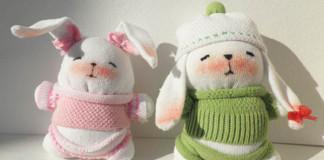 Ponožkoví zajačikovia | Detailný DIY fotonávod