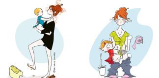 """23 trefných ilustrácií, ktorým bude rozumieť každá žena s prívlastkom """"matka"""""""