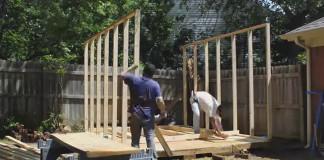 Nová kôlňa na dvore za domom vlastnými rukami