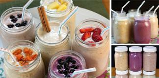 6 receptov na zdravé a chutné ovocné smoothies s ovsenými vločkami