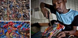 Hračky vyrobené zo starých žabiek | Ocean Sole Kenya