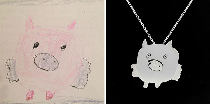 dve mamicky premienaju detske kresby na uzasne jedinecne sperky 1