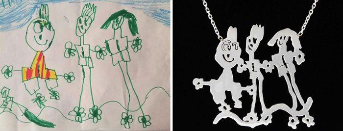 dve mamicky premienaju detske kresby na uzasne jedinecne sperky 4