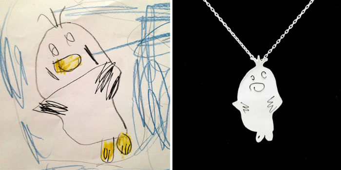 dve mamicky premienaju detske kresby na uzasne jedinecne sperky 6