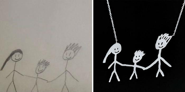 dve mamicky premienaju detske kresby na uzasne jedinecne sperky 8
