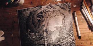 3D príbehy vyrezané do vyradených kníh