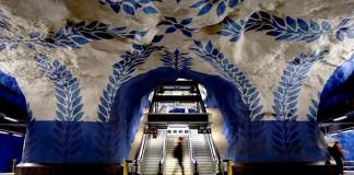 Metro v Štokholme premenené na najdlhšiu galériu umenia na svete