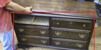 Premena starej komody na originálny kus nábytku | Nápad a návod