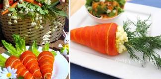 Veľkonočné mrkvičky plnené šalátom | Recept