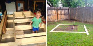 Záhradná pevnosť pre 2-ročného synčeka | DIY nápad