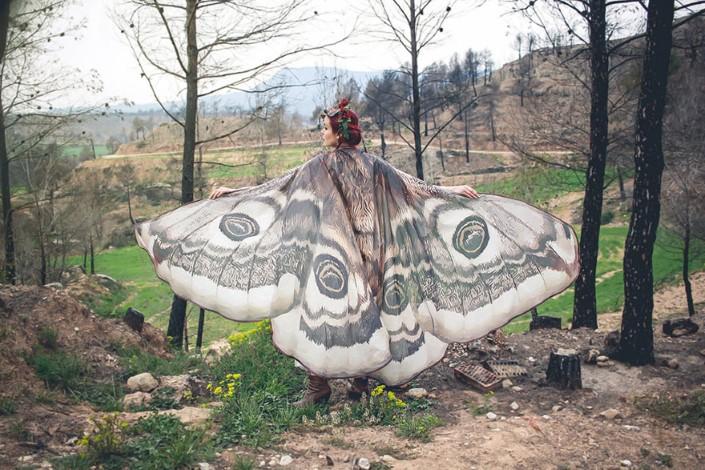 Alassie rucne malovane satky motylie kridla 1
