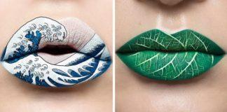 Umenie na perách od mejkap umelkyne Andrea Reed
