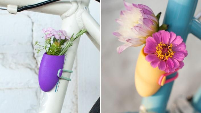Colleen Jordan Wearable Planter kvetinace a vazy na bicykel 10