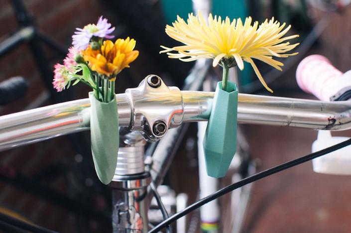 Colleen Jordan Wearable Planter kvetinace a vazy na bicykel 11