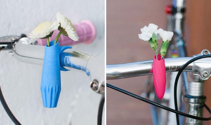 Colleen Jordan Wearable Planter kvetinace a vazy na bicykel 12