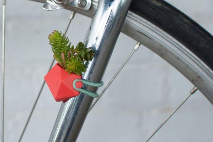 Colleen Jordan Wearable Planter kvetinace a vazy na bicykel 13