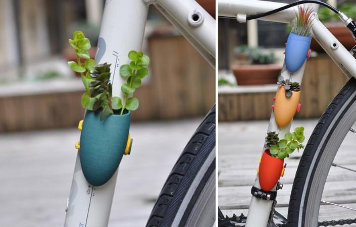Colleen Jordan Wearable Planter kvetinace a vazy na bicykel 2