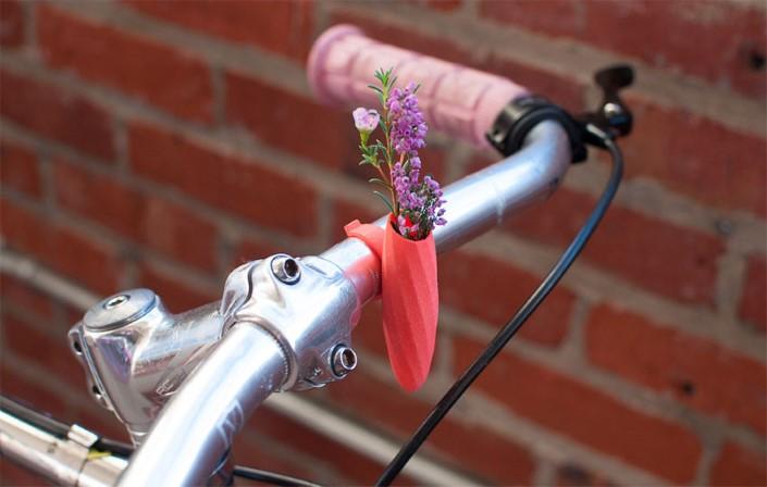 Colleen Jordan Wearable Planter kvetinace a vazy na bicykel 3