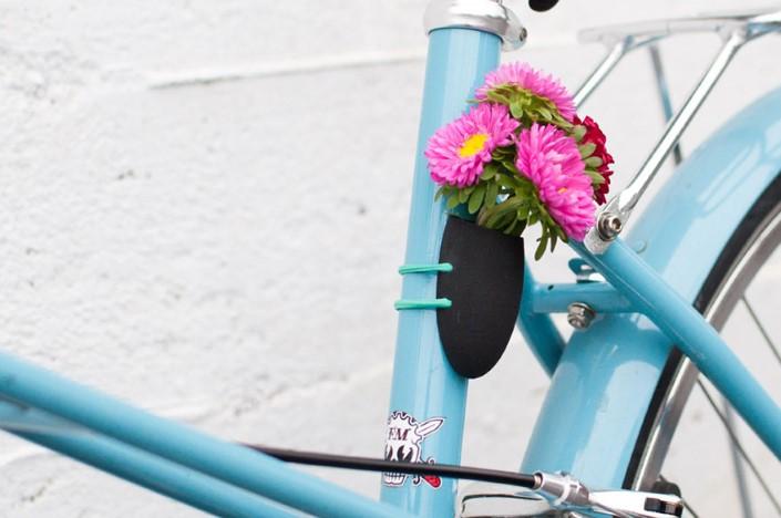 Colleen Jordan Wearable Planter kvetinace a vazy na bicykel 7