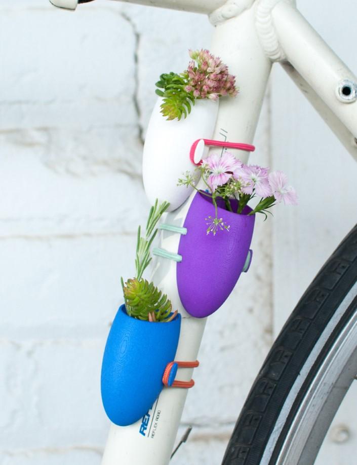 Colleen Jordan Wearable Planter kvetinace a vazy na bicykel 9