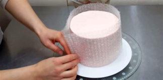 Zdobenie torty bublinkovou fóliou | Návod ako postupovať