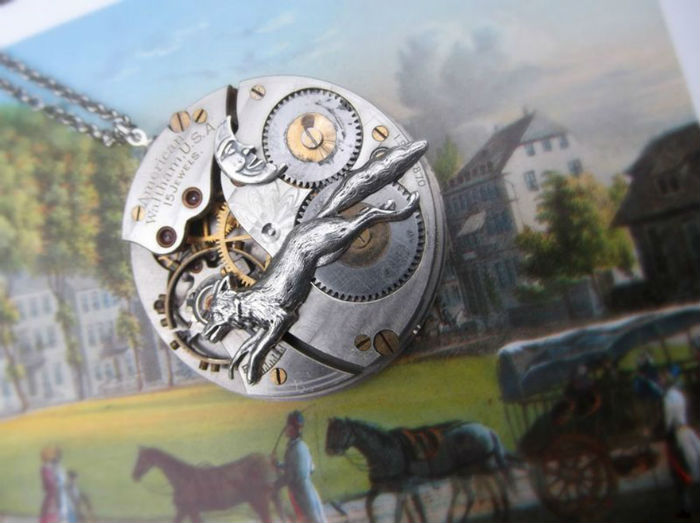 mama s dcerou vyraba steampunkove sperky zo starych hodiniek 6