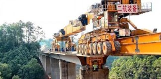 Stavba mostov v Číne v expresnom čase pomocou SLJ900/32