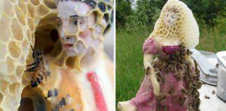 Včely v spolupráci s umelkyňou menia porcelánové sošky