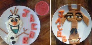 Aranžovanie jedla pre deti do podoby rozprávkových postavičiek