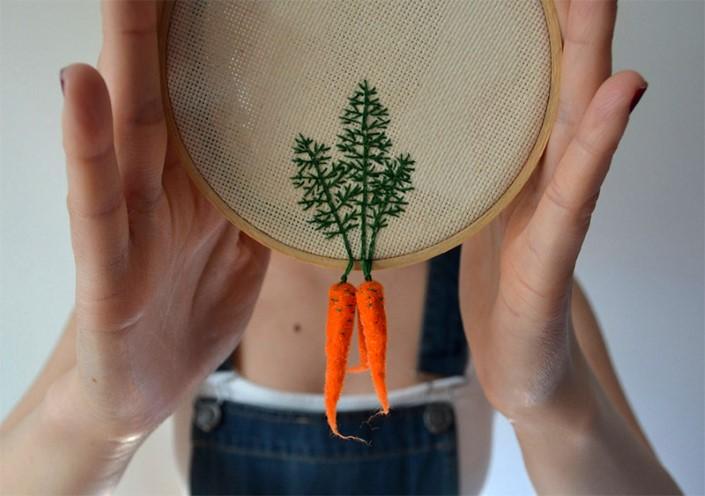 Veselka Bulkan vysivky spojene s plstenou zeleninou 1