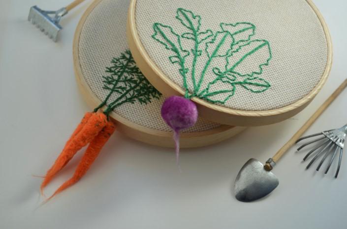 Veselka Bulkan vysivky spojene s plstenou zeleninou 3a