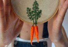 zeleninové výšivky