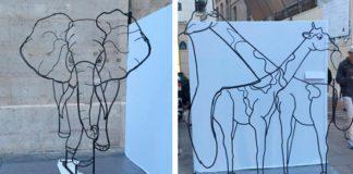 Jedinečné sochy z drôtu od sochára Matthieu Robert-Ortis