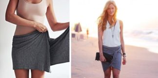 Ako poskladať šál na sukňu | DIY nápad ako vytvoriť sukňu zo šálu