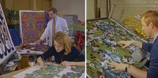 Ako prebiehala potlač na textil v roku 1968. Obdivuhodná práca!