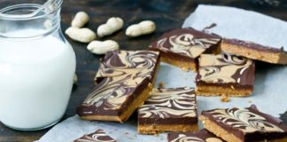 Nepečený čokoládovo-arašidový koláč | Recept