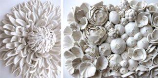 Polymérové sochy kvetov, húb, či morských rias | Angela Schwer