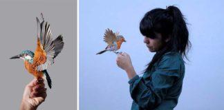 Vtáky z papiera | Diana Beltran Herrera tvorí z papiera realistických vtákov