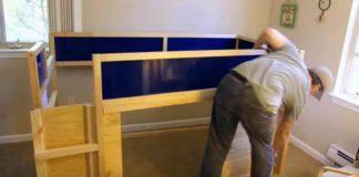 IKEA nábytok premenený na najúžasnejšiu posteľ na svete pre syna