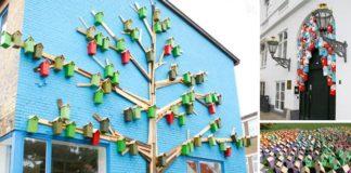 Búdky pre mestské vtáctvo z odpadového dreva | Thomas Dambo