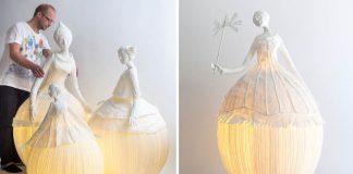 Éterické lampy z papiera menia priestor na rozprávkovú galériu