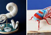 Plstené hračky netradičných zvierat | Hine Mizushima