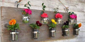 Zaváraninové poháre na vázy, kvetináče či stojany na sviečky