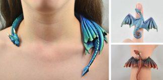 Handmade šperky s motívom drakov z polymérovej hmoty Aelia Petro