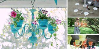 Ako premeniť starý luster na originálny závesný kvetináč